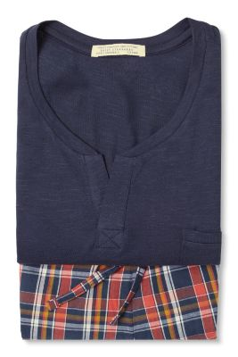 Esprit / Pyjama van jersey/stof, 100% katoen