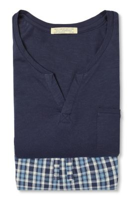 Esprit / Jersey/fabric pyjamas, 100% cotton