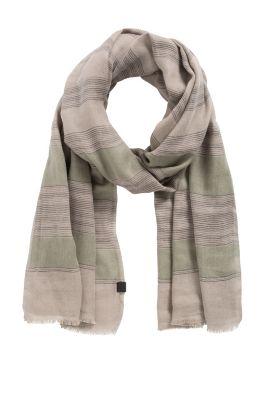 Esprit / Webschal aus 100% Baumwolle