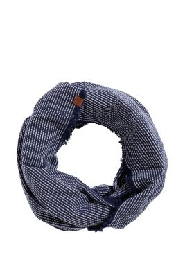 Esprit / Gestreifter Loop-Schal, 100% Baumwolle