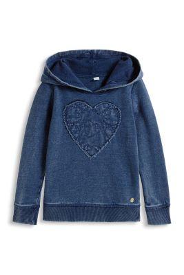 Esprit / Hoodie aus Baumwolle mit Herz
