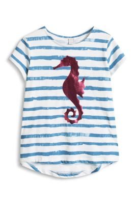 Esprit / Metallic Print T-Shirt, 100% Baumwolle