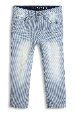 Esprit / Gestreifte Jeans aus Non-Stretch-Denim