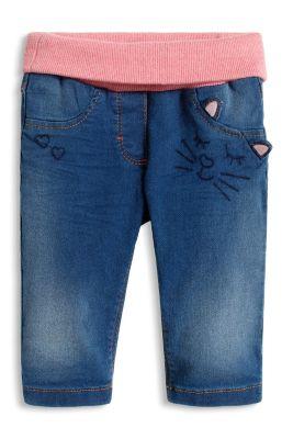 Esprit / Jeans mit Rippbund und Katzengesicht