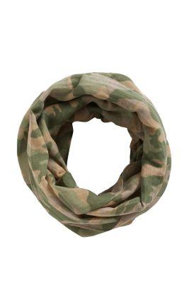 Esprit / Camouflage Loop-Schal aus kühlem Leinen