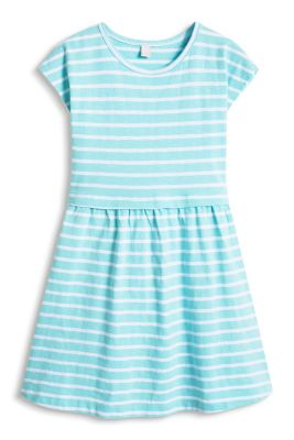 Esprit / Striped jersey dress, 100% cotton