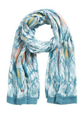 Esprit / Schal mit abstraktem Print