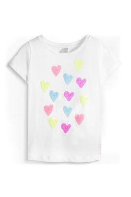 Esprit / Baumwoll T-Shirt mit Pailletten-Herzen