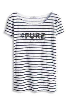 Esprit / Baumwoll T-Shirt mit Glitzer-Print