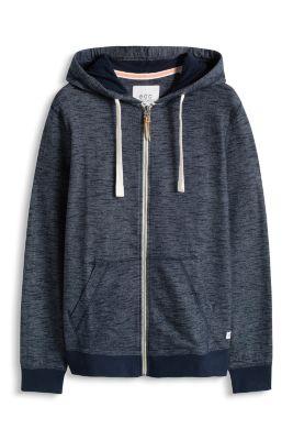 Esprit / Sweatshirt zip hoodie, 100% cotton
