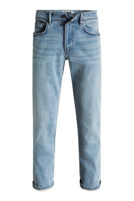 Esprit / 5-Pocket Used-Jeans aus Stretch-Denim