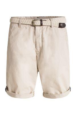 Esprit / Bermudas plus woven belt, 100% cotton