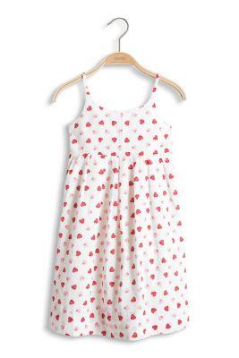 Esprit / Kleid mit Erdbeer-Print, 100% Baumwolle