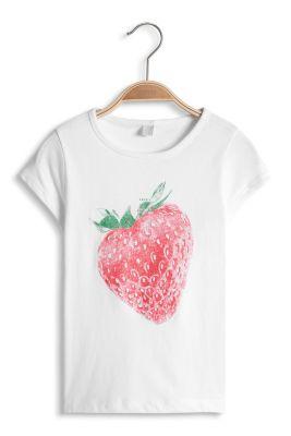 Esprit / Süßes Glitter-Print T-Shirt aus Baumwolle