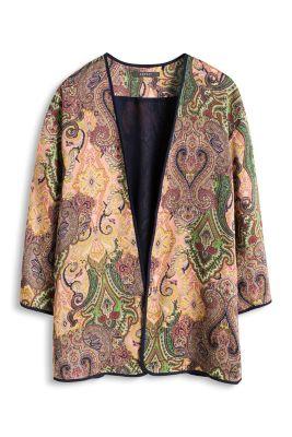 Esprit / Lækker print kimono-cape af satin
