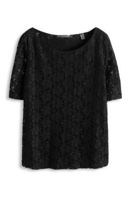 Esprit / Zartes T-Shirt aus Spitze