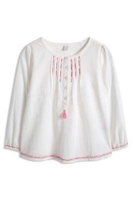 Esprit / Leichte Stickerei Bluse, 100% Baumwolle