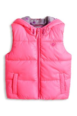 Esprit / quilted waistcoat with hood