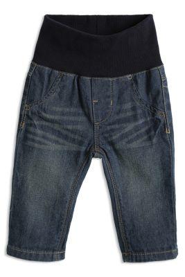 Esprit / Jeans mit Jerseybund, 100% Baumwolle