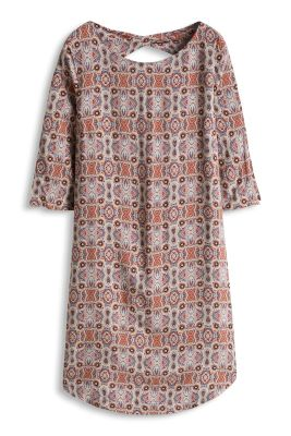 Esprit / Print Kleid mit Rücken-Ausschnitt