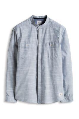 Esprit / Baumwollhemd mit Stehkragen