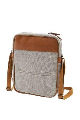 Esprit / Førsteklasses skuldertaske i kanvas/læder