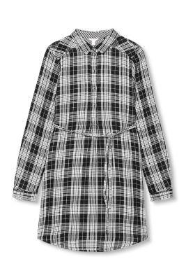 Esprit / Hemdblusenkleid aus 100% Baumwolle