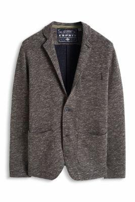 Esprit / Melange, cotton blend sweat blazer