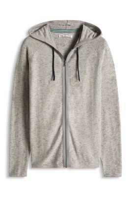 Esprit / Melange Strick Hoodie, 100% Baumwolle