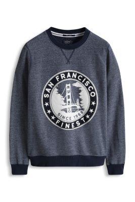 Esprit / Cotton blend sweatshirt with a front print