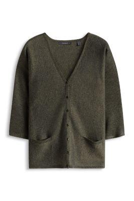 Esprit / Feinstrick Kimono-Cardigan mit Glanz