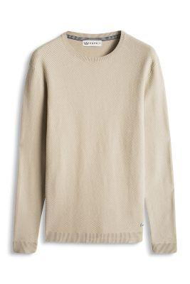 Esprit / Pulli mit Strukturstreifen, 100% Baumwolle