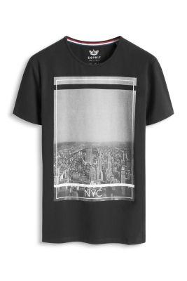 Esprit / Tailliertes Baumwoll-Stretch Print T-Shirt