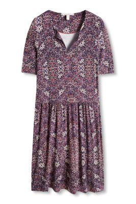 Esprit / Jersey-Stretch-Kleid mit Allover-Print