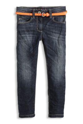 Esprit / Stretch Jeans mit Lackgürtel