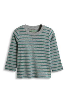 Esprit / Gestreiftes Rib Longsleeve aus Baumwolle