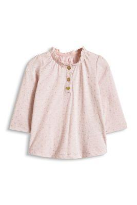 Esprit / Shirt mit Glanzpunkten, 100% Baumwolle