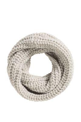 Esprit / Loop-Schal aus Grobstrick mit Wolle